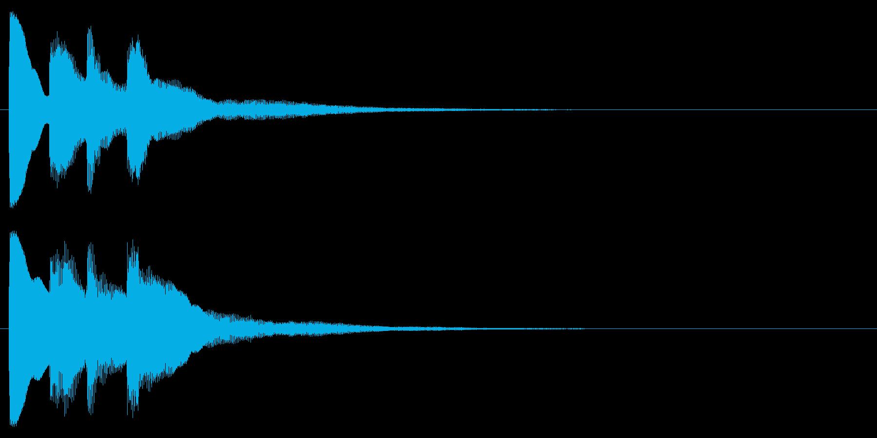 ピンポン2回②(クイズ・正解・当たり)の再生済みの波形