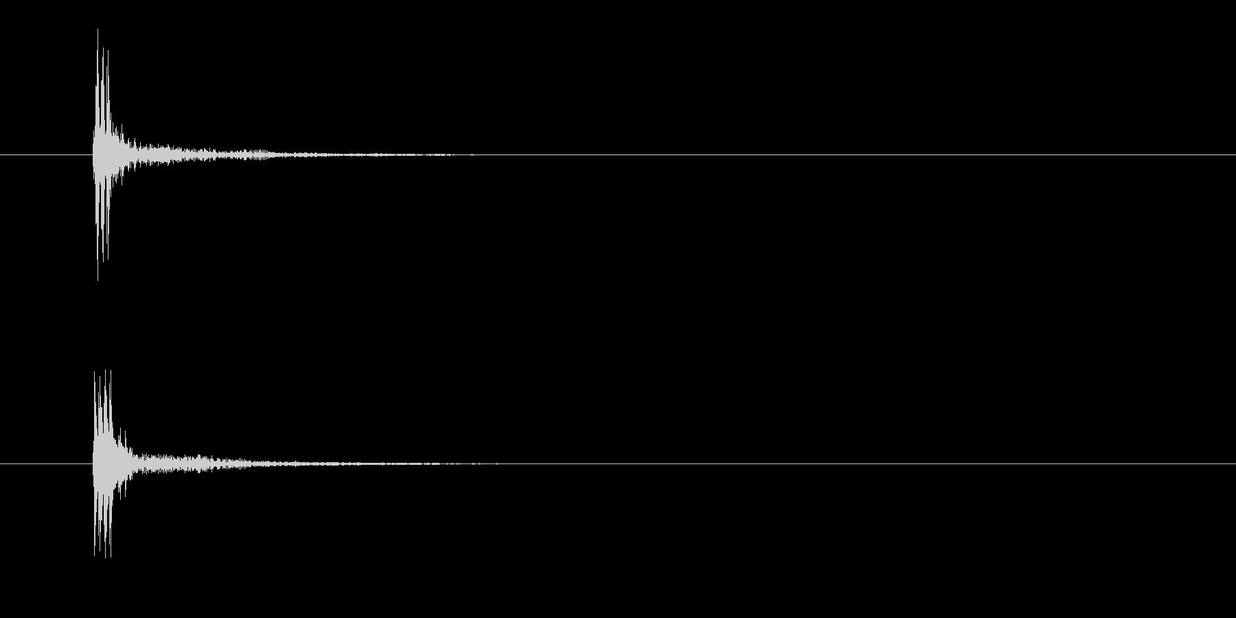 ブッ(ボタン、不正解、ブザー)の未再生の波形