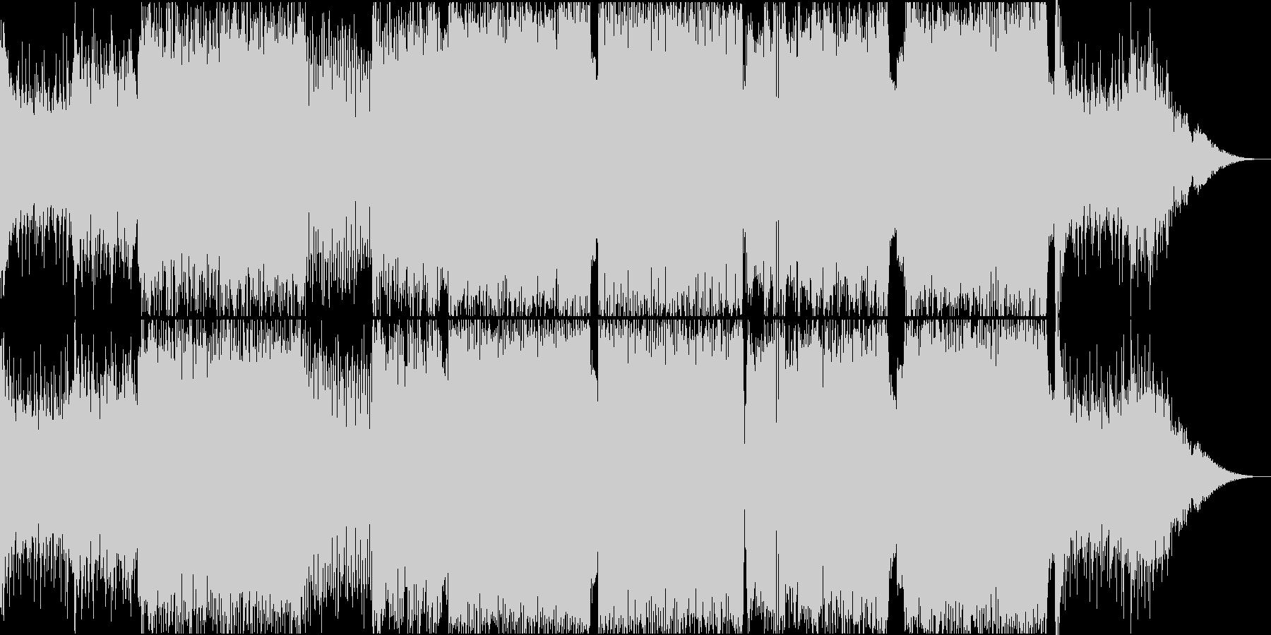 バトルの起承転の展開まで網羅する曲の未再生の波形