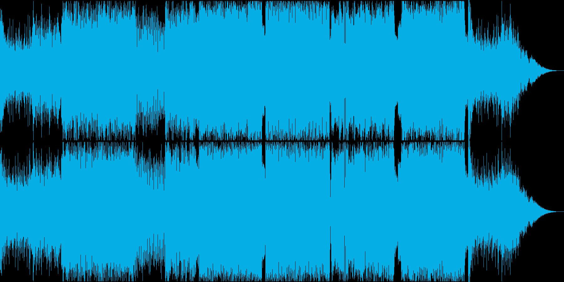 バトルの起承転の展開まで網羅する曲の再生済みの波形