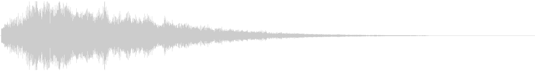 8秒間の、明るい雰囲気なシンセベル音の未再生の波形