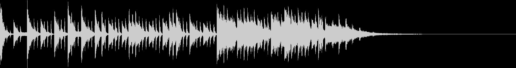 ハウス すぐ終わる効果音の未再生の波形