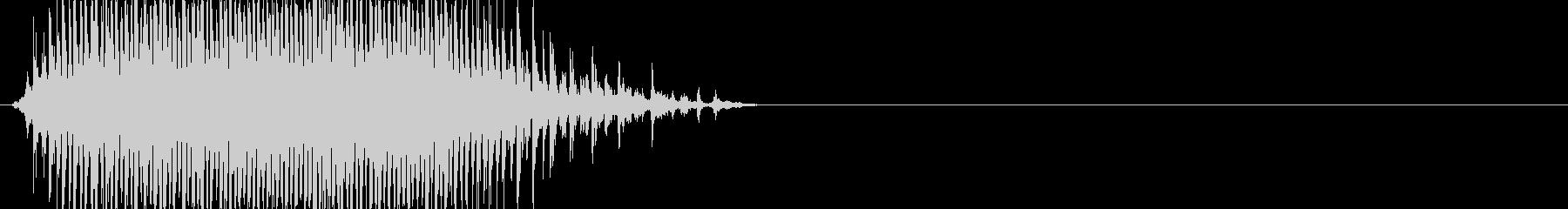 草刈り機の音の未再生の波形