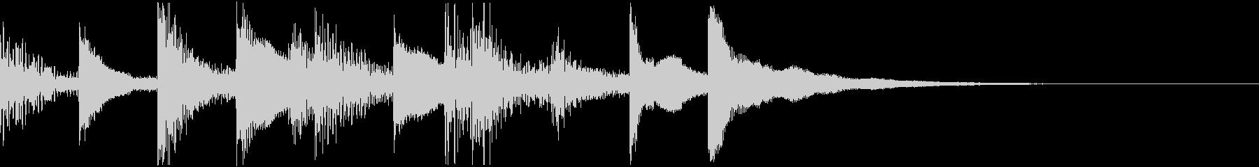 民族音楽的なジングルの未再生の波形