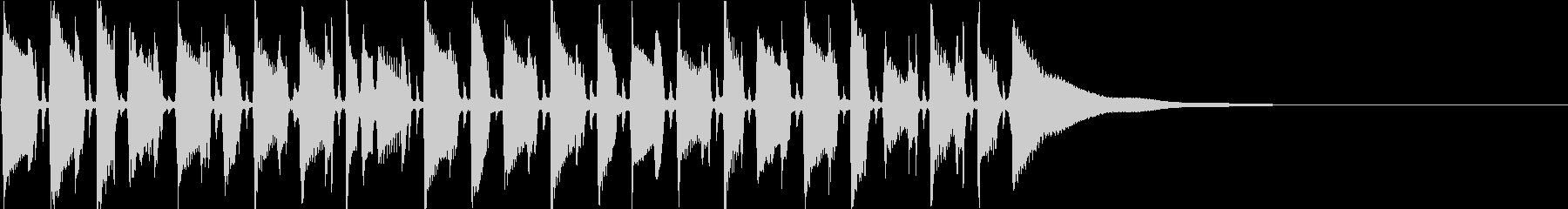 アコギによるジャズポップスの未再生の波形