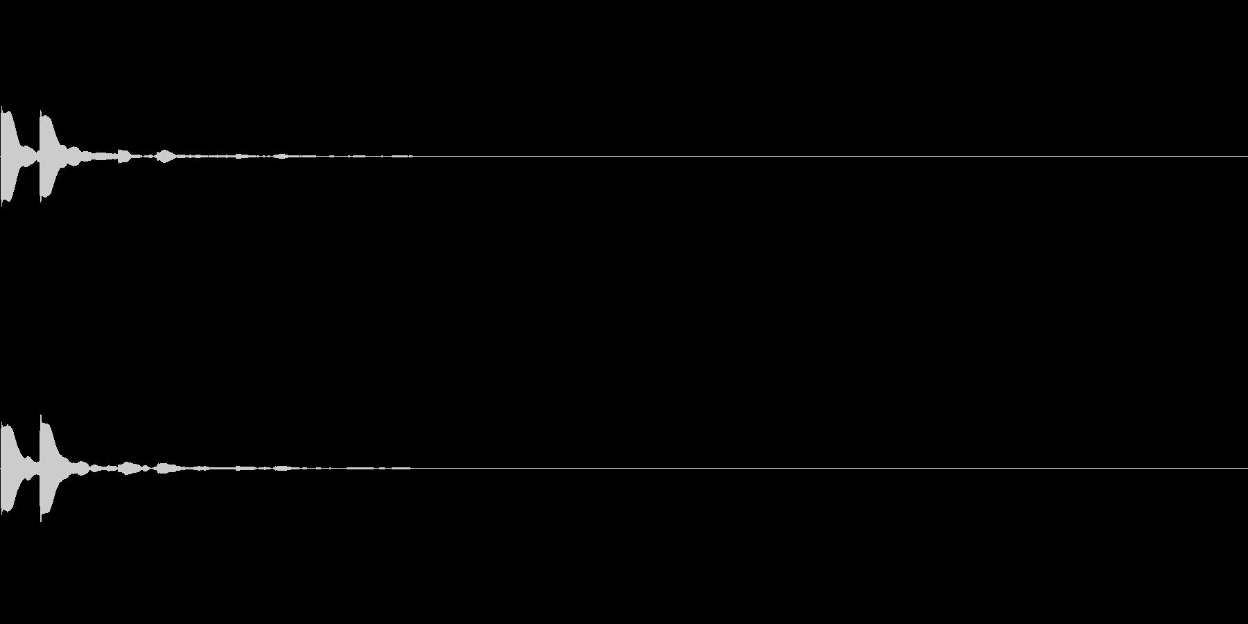 「ピピッ」キッカケ音_05+の未再生の波形