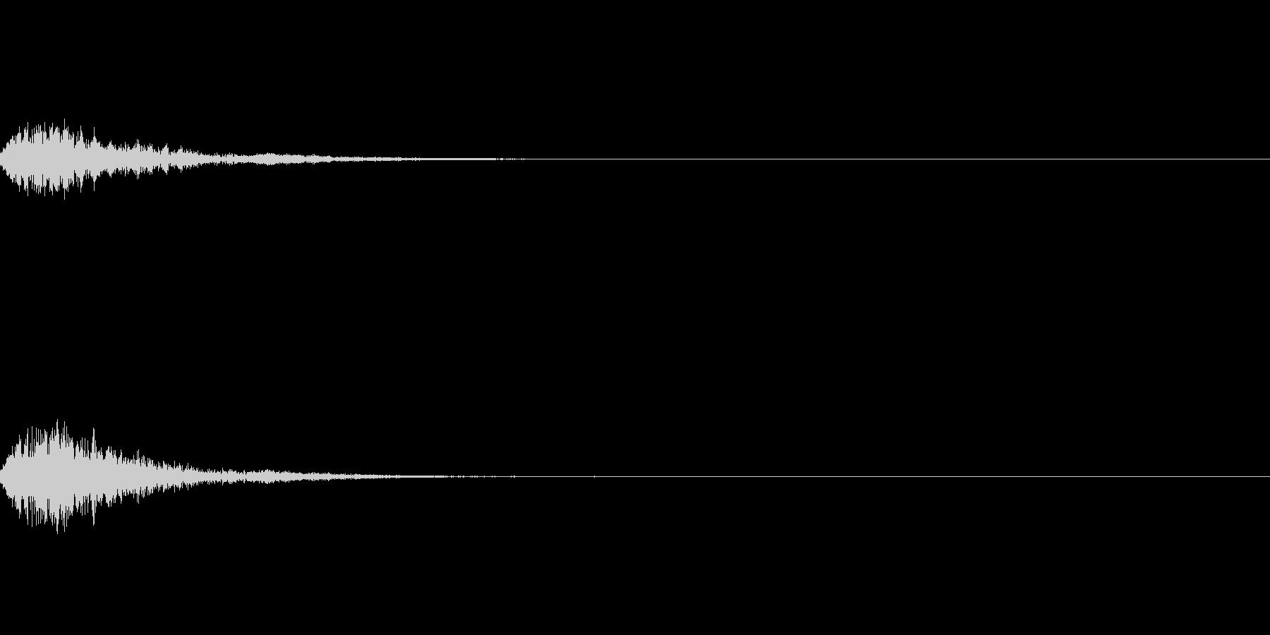 ガラスがキラキラ弾けるボタン音(ポップ)の未再生の波形