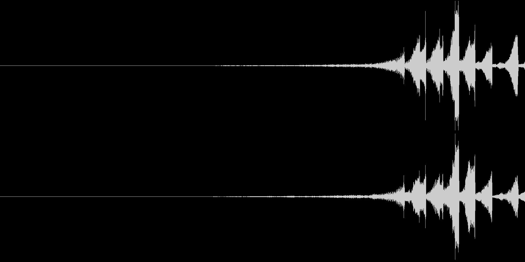 ZAP リバースサウンド 逆再生 戻るの未再生の波形