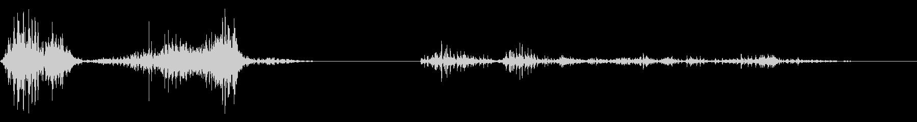 ガオー(猛獣の声)の未再生の波形