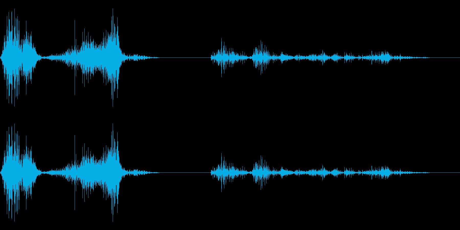 ガオー(猛獣の声)の再生済みの波形