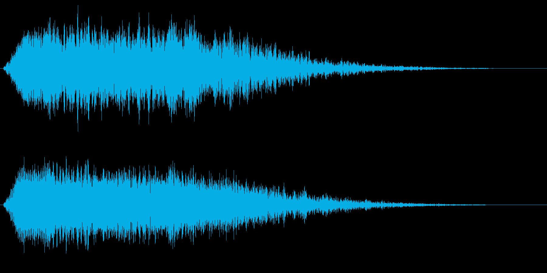 死霊の咆哮 悪霊 ゾンビ デーモンの声の再生済みの波形