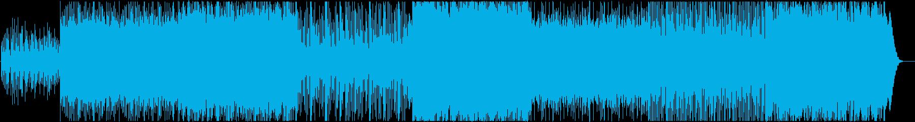 悪夢感満載のホラーミュージックの再生済みの波形