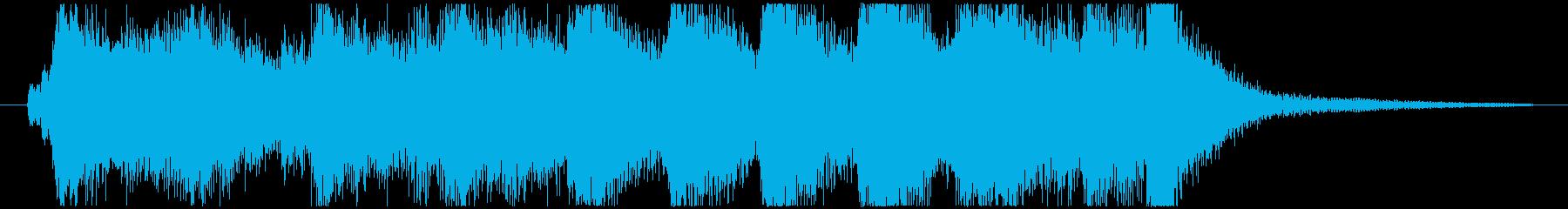 アドベンチャーな雰囲気のオーケストラ_Aの再生済みの波形