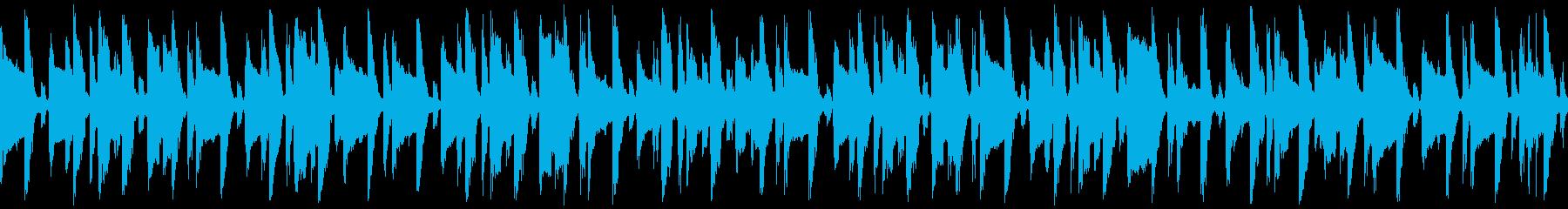 ほのぼの明るい口笛&ギター(ループの再生済みの波形