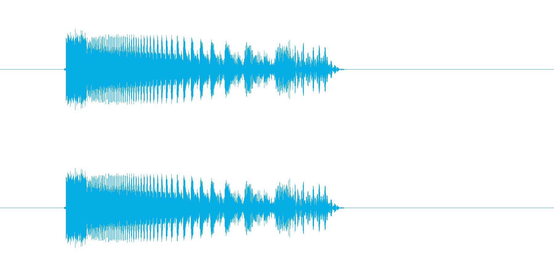 ギュールル(落下、回転、停止)の再生済みの波形