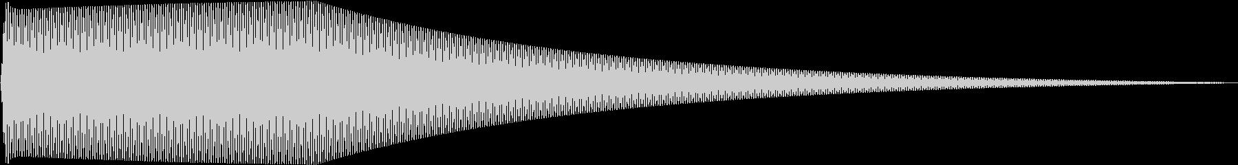Sin シンプルなサイン波のタッチ音 3の未再生の波形