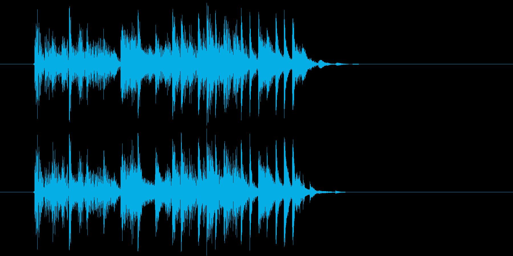 軽快でマイナーなシンセビートジングルの再生済みの波形