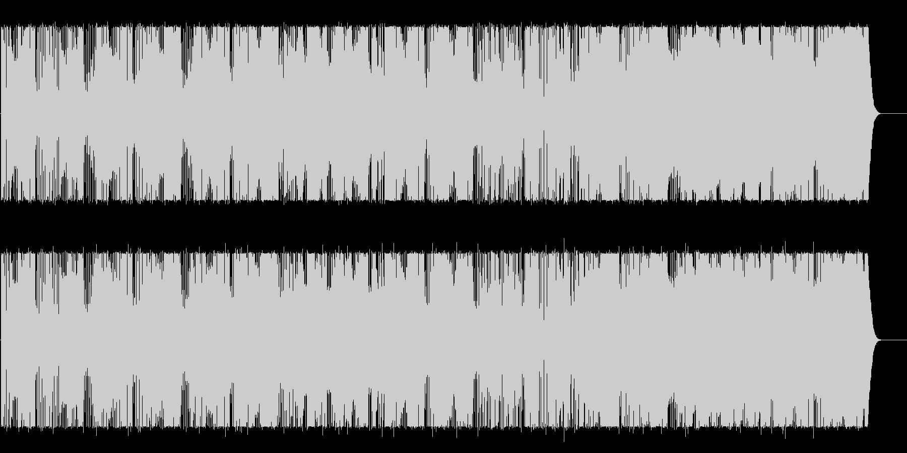 ベースが印象的なグルービーBGMの未再生の波形
