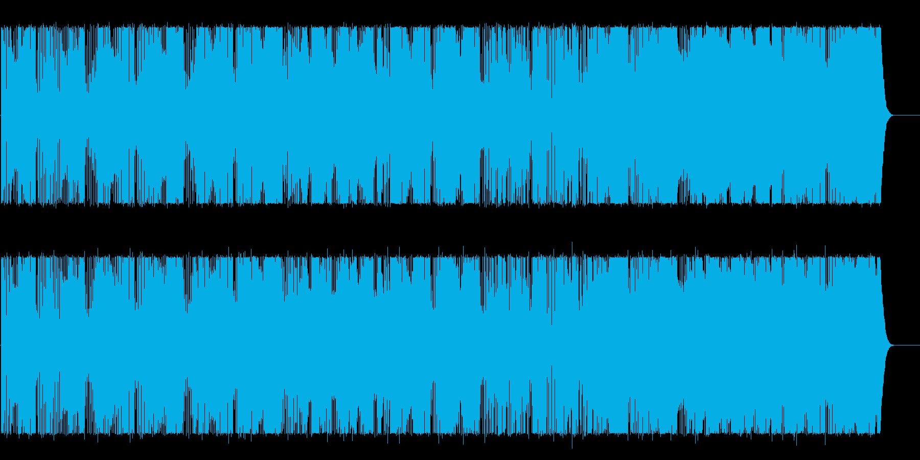 ベースが印象的なグルービーBGMの再生済みの波形