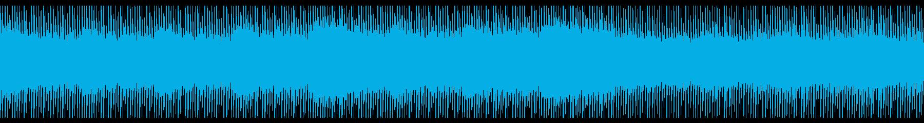 1分30秒のループ音源の再生済みの波形