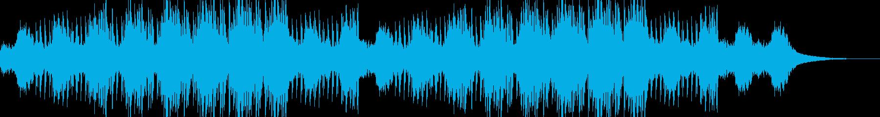 ニュースなどに使える未来的なジングルの再生済みの波形