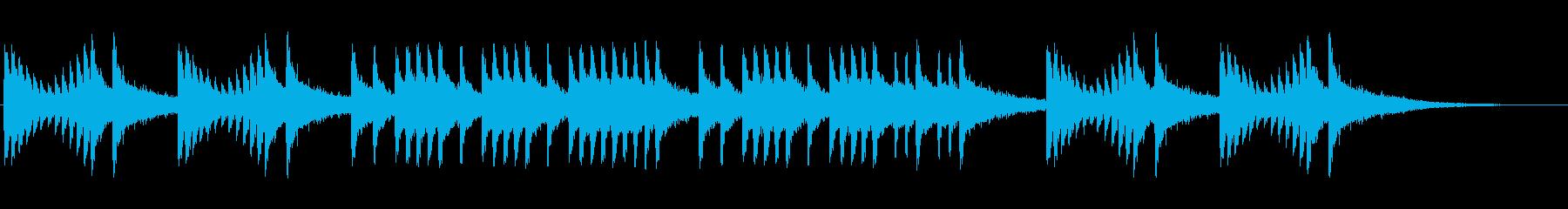 行進曲、マーチ風の長めのドラムロールの再生済みの波形