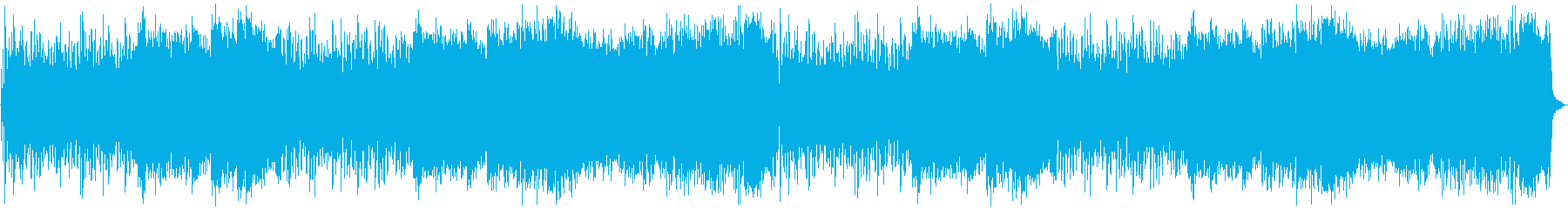 スピード感のあるサイバー戦闘曲の再生済みの波形