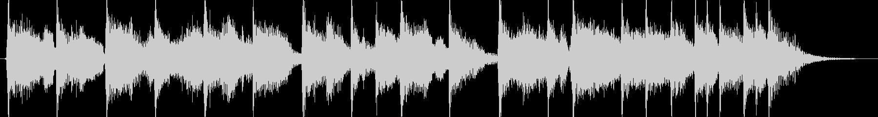 ブルースハープが特徴的なジングルの未再生の波形