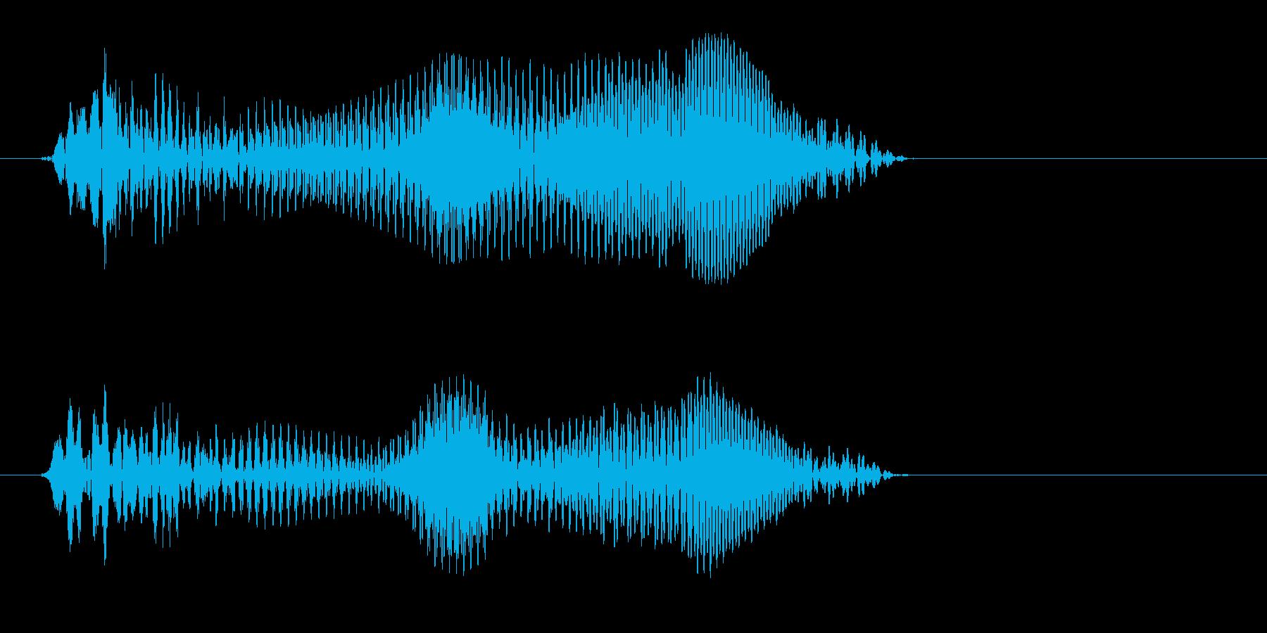 あう(何かがくにゃっとなったような音)の再生済みの波形