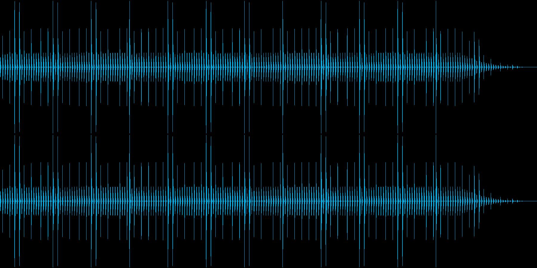 昔のパソコン音源を使ったリズムループの再生済みの波形