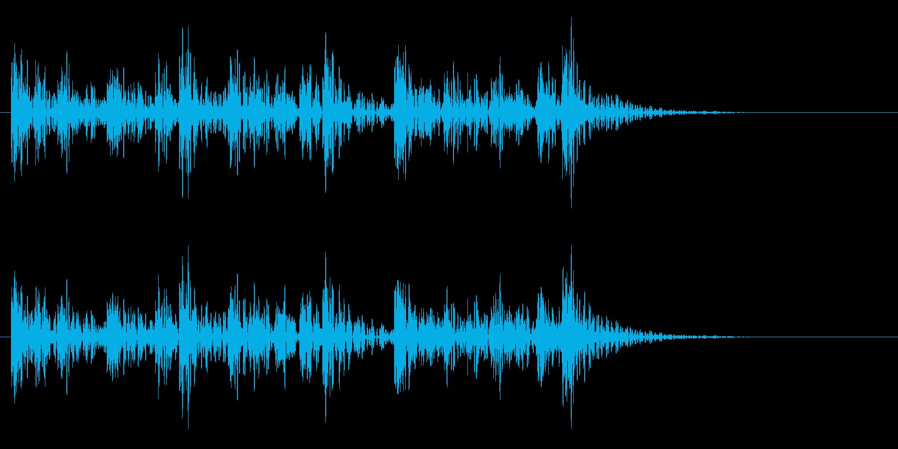 和太鼓アフリカ版Dunの重低音フレーズ音の再生済みの波形
