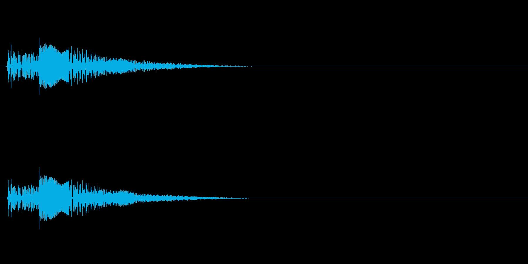 ゼリーのようなポヨンとした音の再生済みの波形