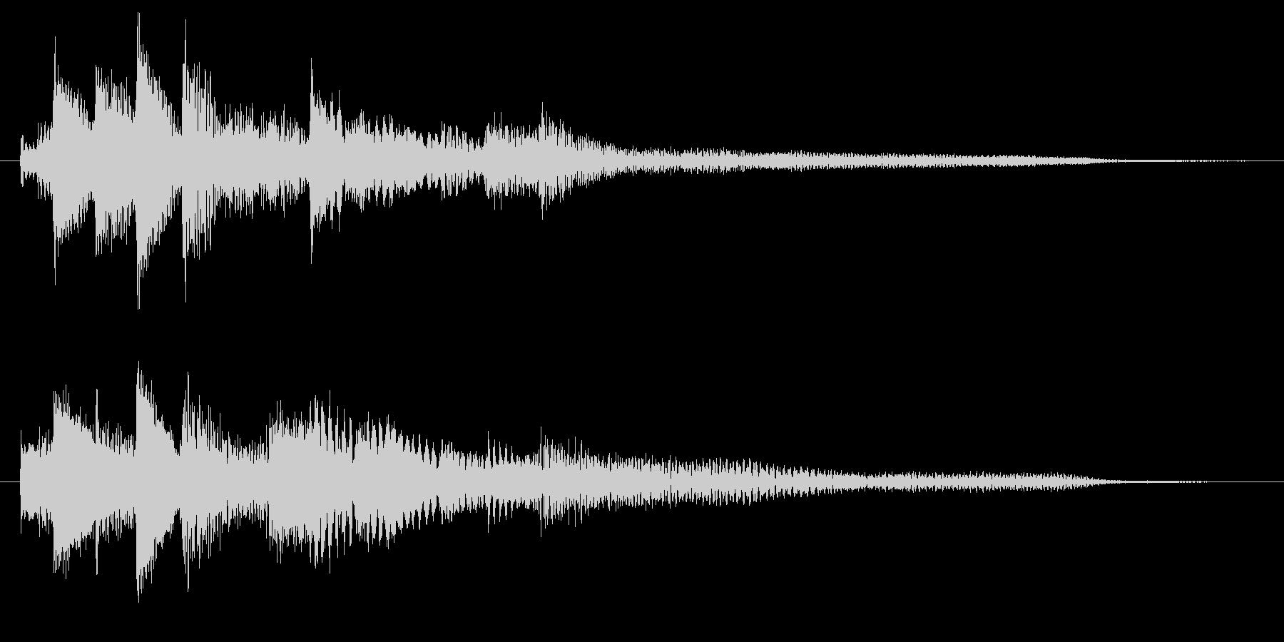 企業・CM 優しいピアノのサウンドロゴの未再生の波形
