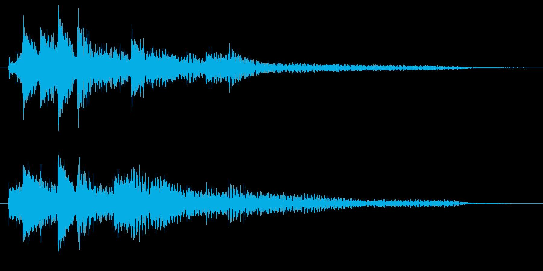 企業・CM 優しいピアノのサウンドロゴの再生済みの波形