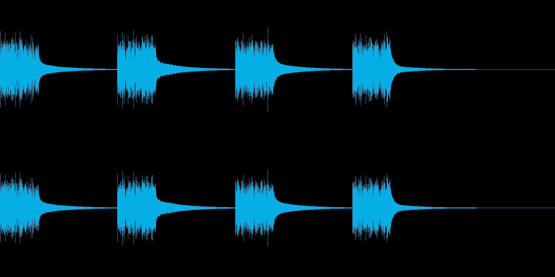 旧ダイヤル電話:ベル呼び出し電話の再生済みの波形