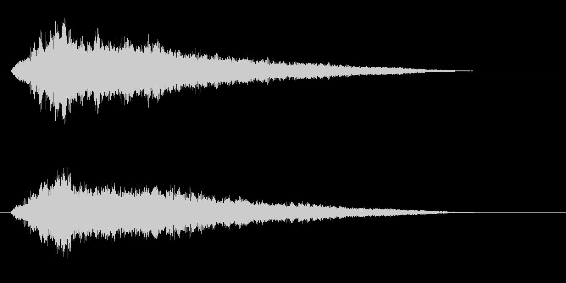 古いパソコンの起動音風ジングル1の未再生の波形