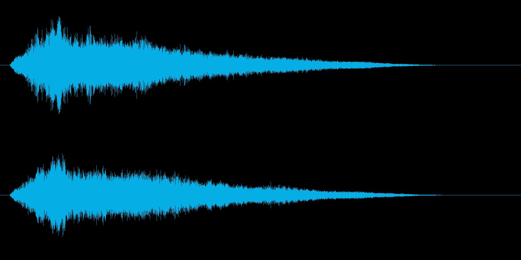 古いパソコンの起動音風ジングル1の再生済みの波形
