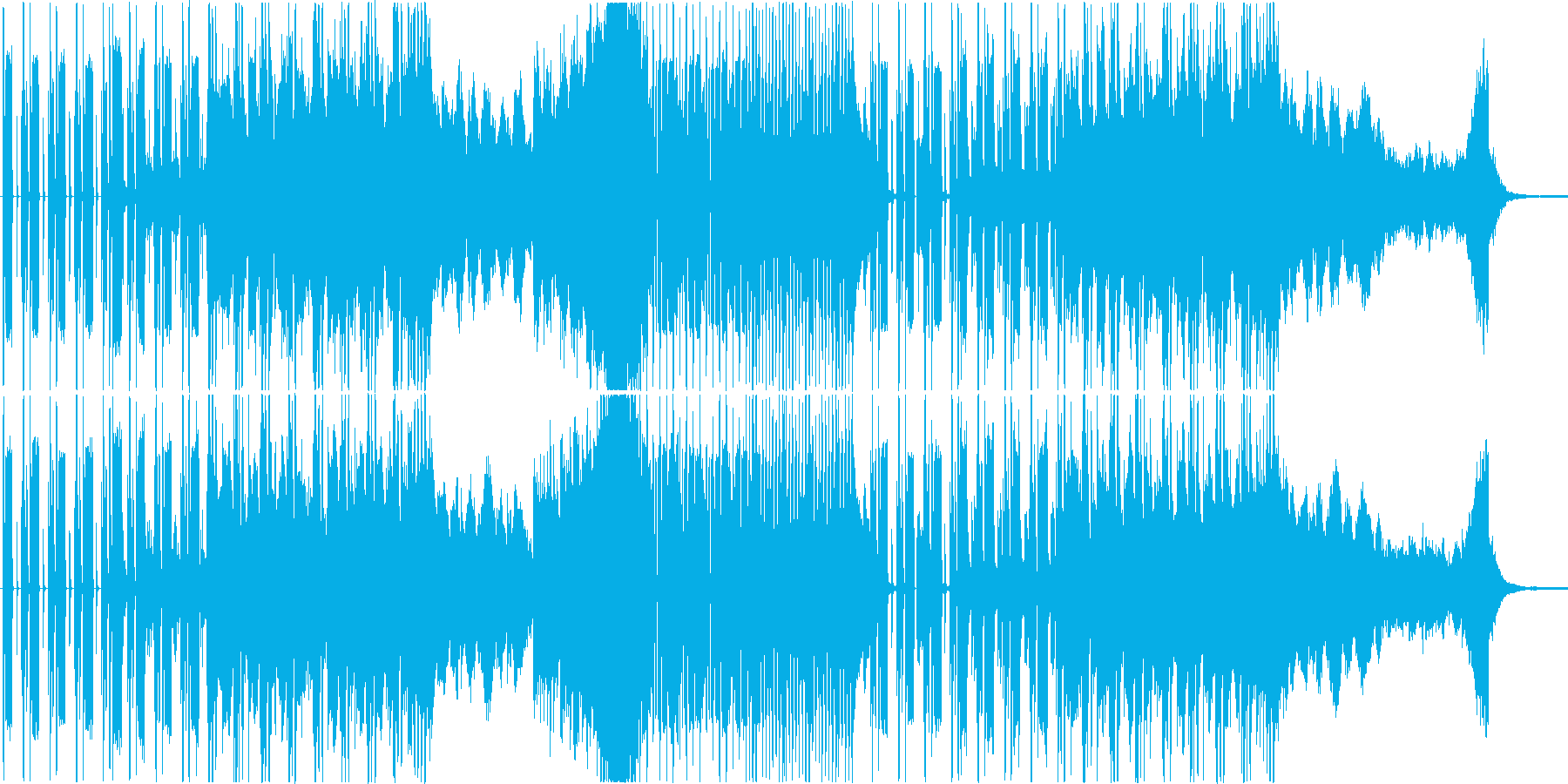 声なし】ダブステップ コミカル オシャレの再生済みの波形