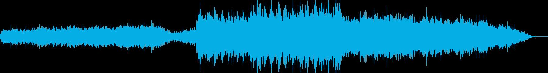 勇壮な雰囲気のBGMの再生済みの波形