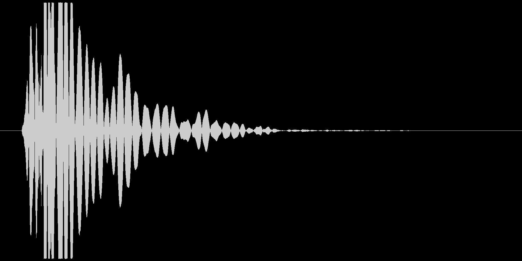 ドンッ、バタッ(倒れる、足音、低音)の未再生の波形