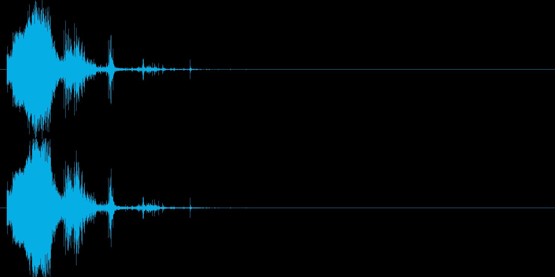 斬撃:軽めの斬撃2の再生済みの波形