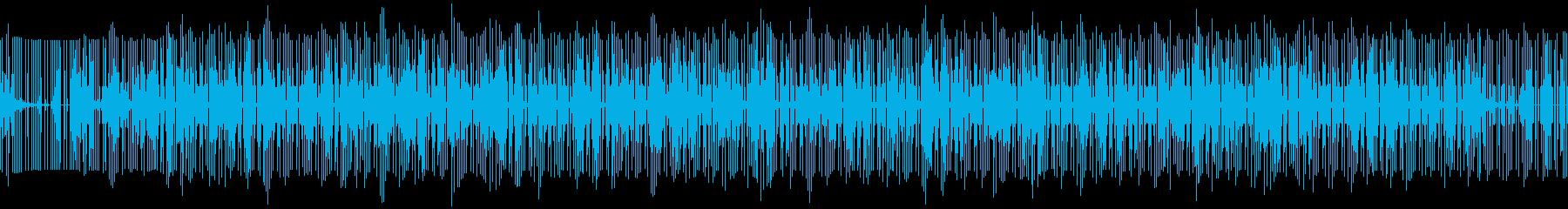 静かめでシンプルなエレクトロのループの再生済みの波形