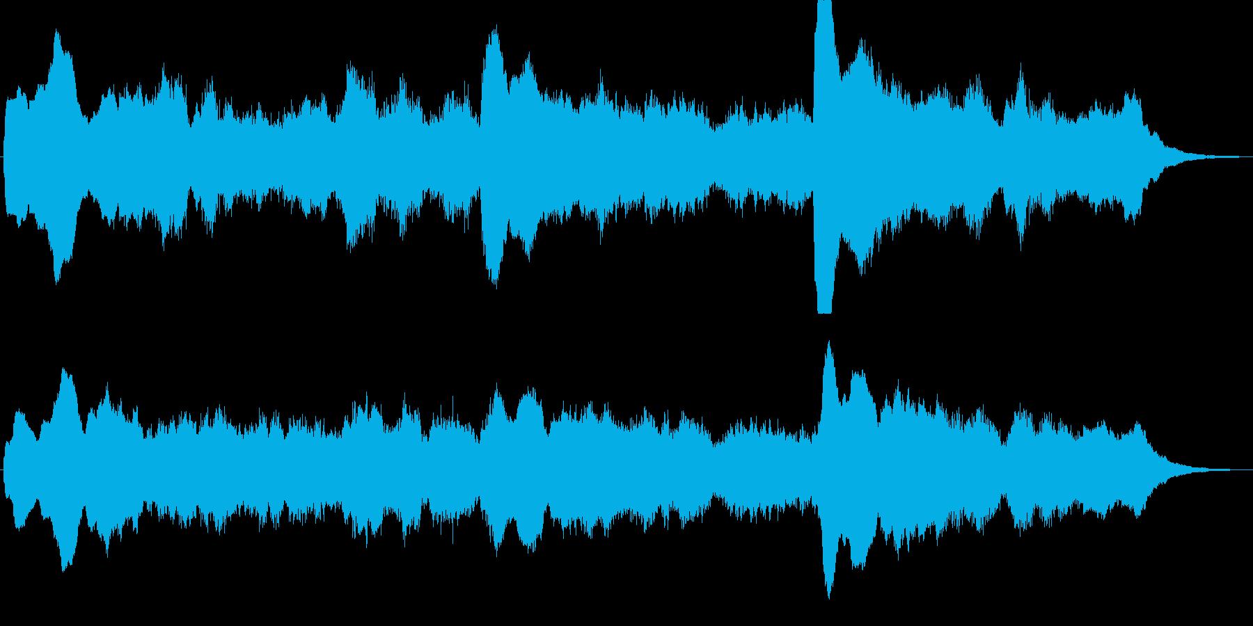 シンセによるダークで不思議なジングルの再生済みの波形