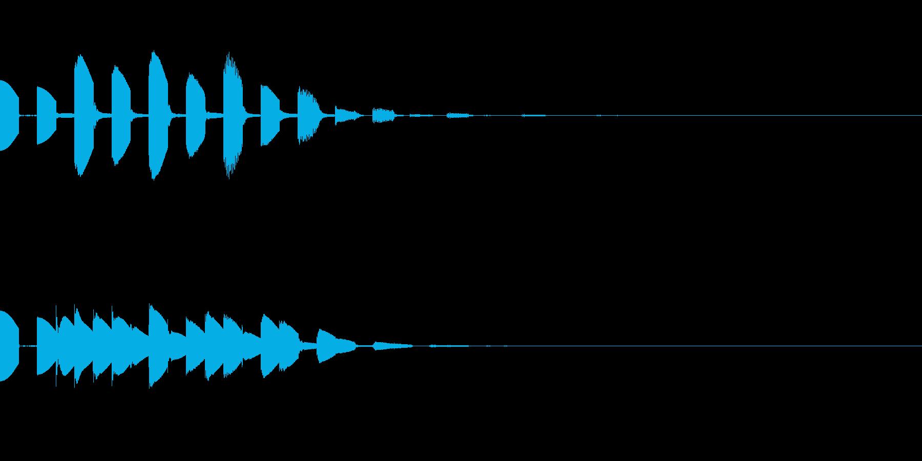 ピコピコで綺麗な高音(宇宙/深海/癒し2の再生済みの波形