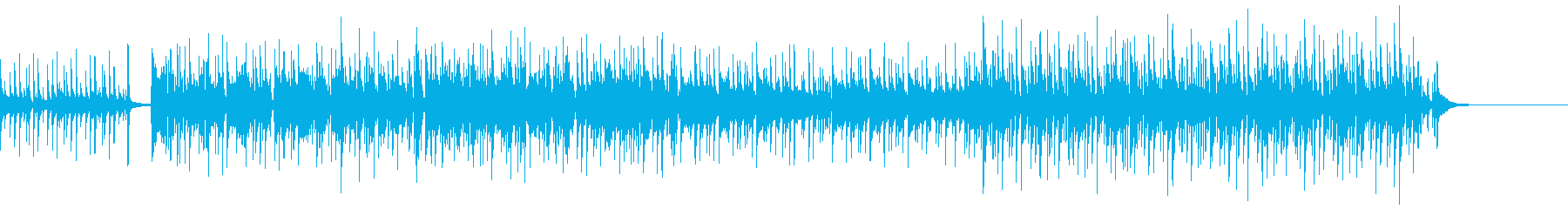 穏やかなファンクミュージックの再生済みの波形