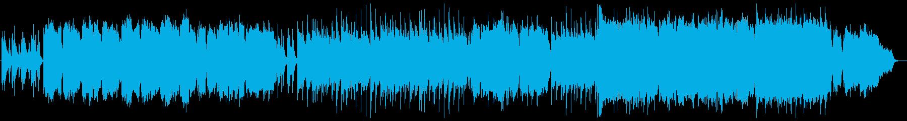フルートの癒し系BGMの再生済みの波形