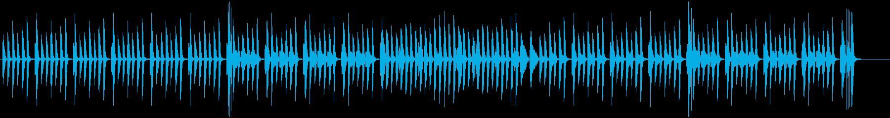 日常系ピアノの軽やかでかわいい曲・伴奏版の再生済みの波形