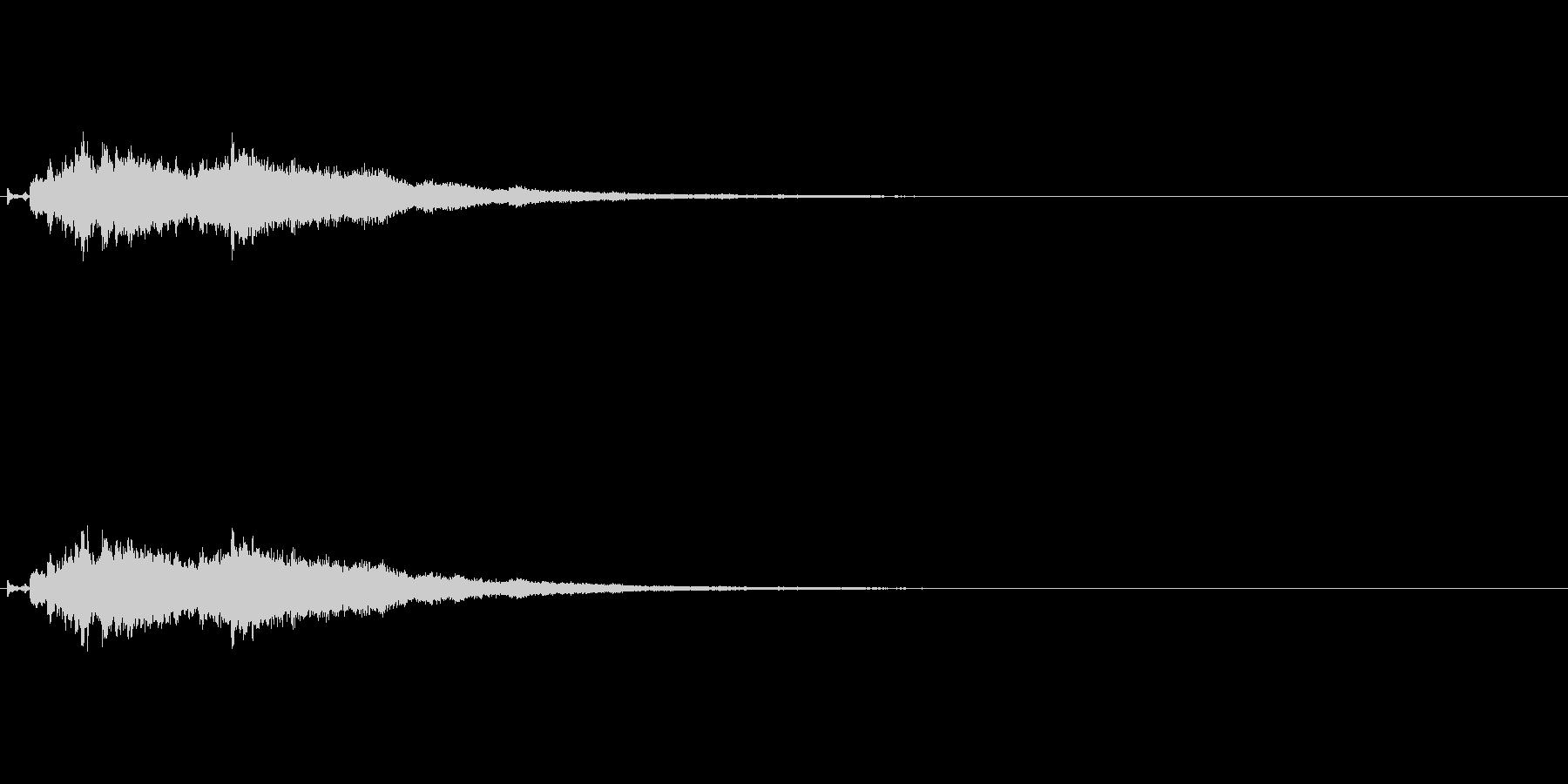 オリジナルの効果音_キラーンの未再生の波形
