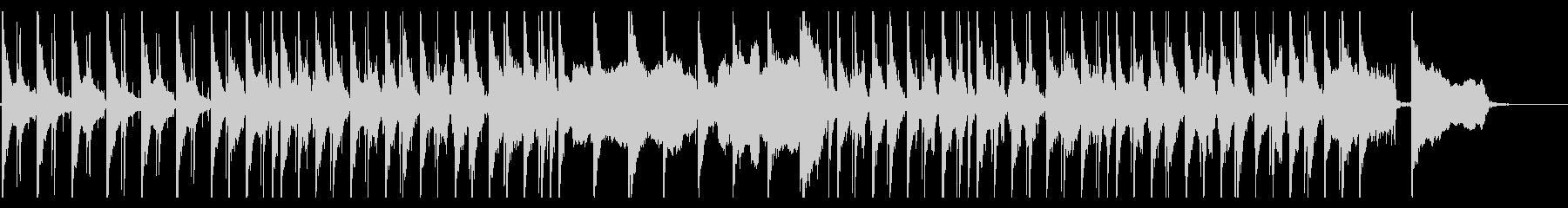 生コントラバスとクラリネットのゆったり曲の未再生の波形