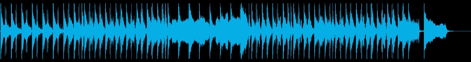 生コントラバスとクラリネットのゆったり曲の再生済みの波形